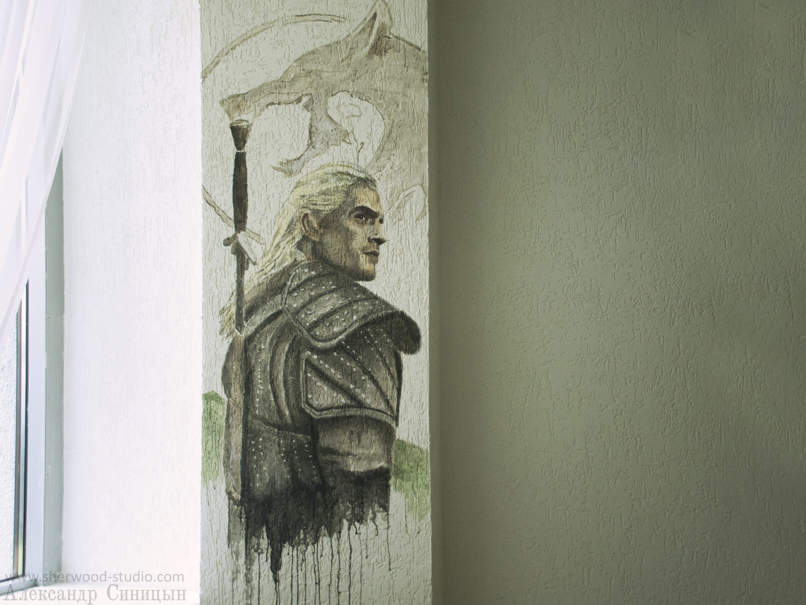 Ведьмак Рязань роспись граффити