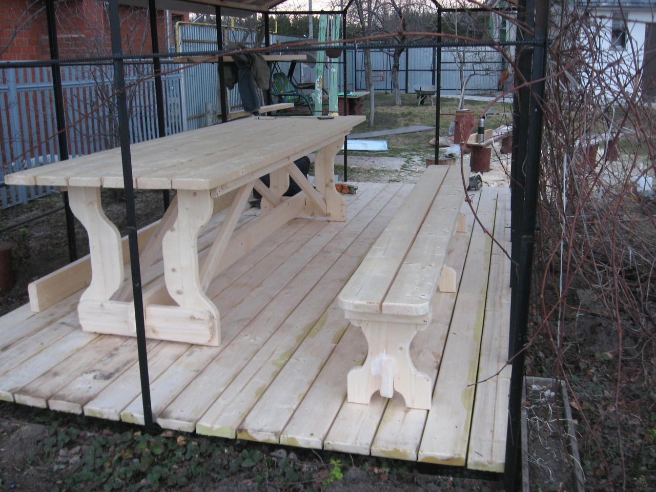 Скамейки и столы для участка