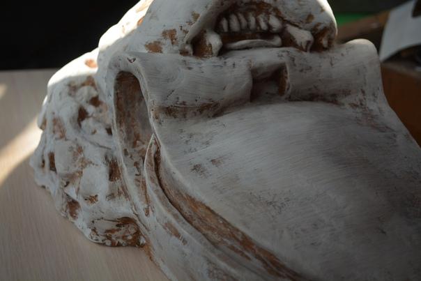 Лепная голова льва в Рязани