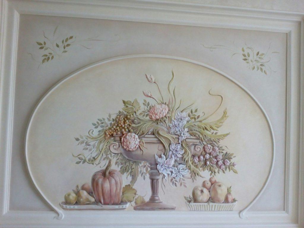 Цветочный барельеф