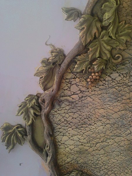 Фактура Трещинка и лепной виноград